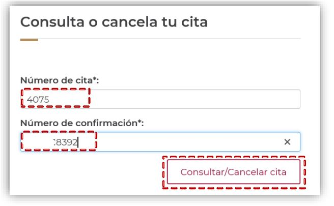 cancelar cita paso 1