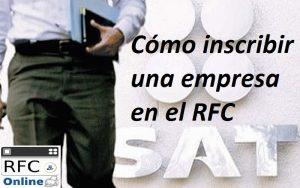 Cómo inscribir una empresa en el RFC